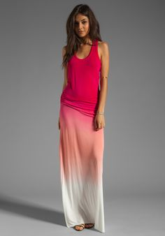 YOUNG, FABULOUS & BROKE Hamptons Dress in Fuchsia Sunset Ombre - Young, Fabulous & Broke revolveclothing.com