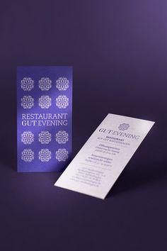 Restaurant Gut Evening Hotel Gut Bardenhagen – Design by Redeleit und Junker | Fonts: PMN Caecilia, Hoefler