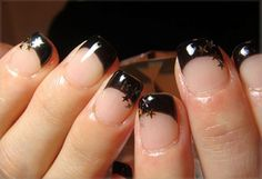Nail Art Design is the latest fashion in nails popularized by the rising trend all across the world. Gem Nail Designs, Cute Nail Designs, Love Nails, Pretty Nails, My Nails, Star Nail Art, Star Nails, Sophisticated Nails, Nail Art Hacks