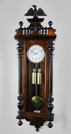 Image detail for -Vienna regulator antique wall clock.
