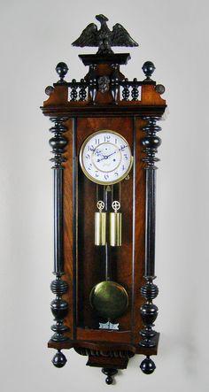 Image detail for -Vienna regulator antique wall clock.