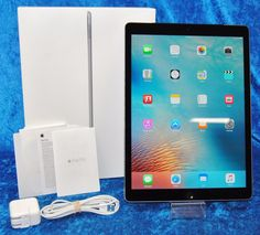 "Apple iPad Pro 128 GB Wi-Fi  Cellular 12.9"" 8 MP Space Gray ML3K2LL/A Clean ESN"