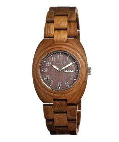 Woman's Olive Hilum Wood Watch