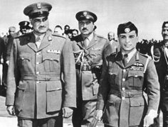 الزعيم جمال عبد الناصر و الملك الحسين بن طلال