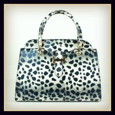 Black/White Dalmation Handbag