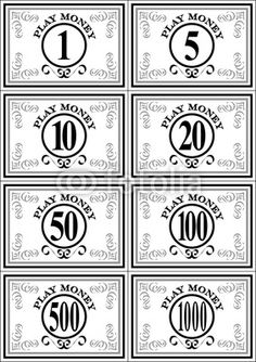 Gallery For gt Fake Money To Print Black And White