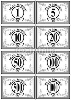 Best Free Printable Play Money Print Fake Template