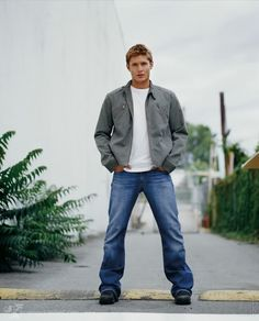 Young Jensen (photographers made him stand this way to hide the bowlegs, but they didn't quite succeed here ;)