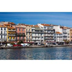Old Port waterfront with buildings in the background Sete Herault Languedoc-Roussillon France Canvas Art - Panoramic Images (36 x 24)