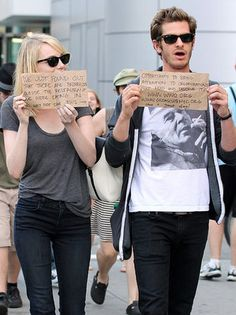 Emma Stone and Andrew Garfield - The 50 Best Celebrity Photos of 2012: Obsessed