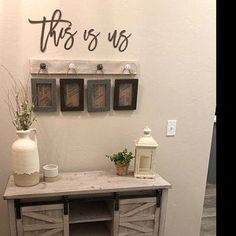 Farmhouse rustic picture hanger with frames, The beats of my heart, This is Us, White distressed photo display, Mother's Day gift for mom Picture Hangers, Rustic Bathroom Decor, Creative Home, Creative Home Decor, Diy Home Decor, Rustic Frames, Photo Displays, Frame Shabby, Farmhouse Wall Decor