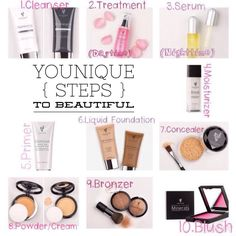 Younique's steps to beautiful!! You could earn 1 or all of these FREE if you wanted to :) message me for details :) $29 www.makeupfromheather.com #makeupfromheather #free #gifts #beauty #party