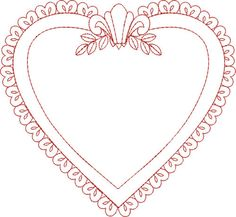 heart frame-cute with a monogram