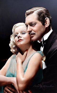 Jean Harlow and Clark Gable❤