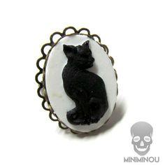 Anel camafeu black cat - Miniminou