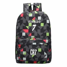 Teen Backpack Men School Bags for Teenagers Boys Book Bag Back Pack Ronaldo kids  Bookbags for 7d3e3418bc