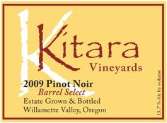 2009 Kitara Barrel Select Pinot Noir 750 mL >>> You can find out more details at the link of the image.