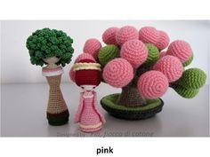 Fia, fiocco di cotone: pink and red