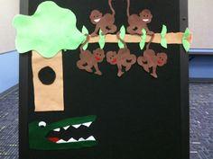 """""""Five Little Monkeys"""" #storytime #flannelboard #flannelfriday"""
