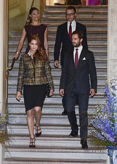 Royal Sisters...Swedish Royal family 9/13/2013..Princess Madeleine of Sweden and Crown Princess Victoria of Sweden