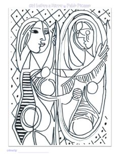 coloring pages of famous artists | famous artwork, red fish and ... - Famous Art Coloring Pages Picasso