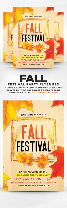 Fall Festival Flyer  Flyer    Flyers Fall And Festivals