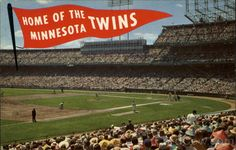 Metropolitan Stadium - history, photos and more of the Minnesota Twins former ballpark Mlb Twins, Minnesota Twins Baseball, Baseball Park, Metropolitan Stadium, Bloomington Minnesota, Mall Of America, The Outfield, Twin Cities, Hockey Players