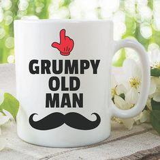 Funny Novelty Mugs Grumpy Old Man Moustache Joke Coffee Tea Cups Adult Humour Gifts For Him Fathers Day Gift Grandad Boyfriend Mug Rude Mugs, Funny Mugs, Funny Gifts, Coffee Gifts, Coffee Mugs, Childrens Wall Decals, Wedding Mugs, Grumpy Old Men, Valentines Mugs