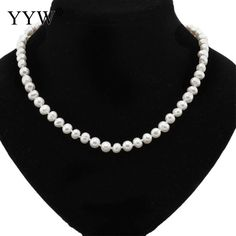 Natural Pearl Necklace for women/girl 9-10MM special sales of natural (thread) freshwater pearl necklace 18 inch #Affiliate
