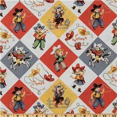 Michael Miller Yipee Cowboy Reto color cotton Fabric,  By the Yard, Half Yard , Sewing Fabric, Quilting Fabric, Craft Fabric,   All yardage will be one continuous cut, unless you specify otherwise.   A yard measures 36 by the width of fabric (With of Fabric is usually 44).   Premium Quilting Fabric and Apparel Fabric, 100% Cotton Fabric! Woven Cotton Print Fabric 44-45 inches wide. More yardage usually available by using the drop down quantity selector during the checkout!   Sold by the half…