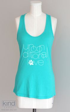 Unconditional Love Eco Friendly Pima Modal Racerback Tank. $30.00, via Etsy.