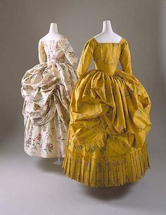 Dress (Robe à la Polonaise)   Date: 1780–85