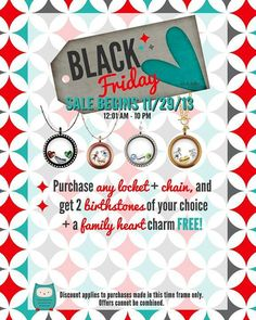 Origami Owl's Black Friday Deals... Visit www.roseanna.origamiowl.com to see all that we offer!