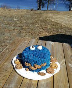 Tårta cake Sesam kakmonstret cookiemonster cookiemonstercake Mupparna Muppets ⭐sockerlinn.se⭐