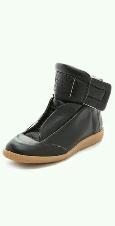 low priced 1b22e 1626a Maison Martin Margiela Leather Flat Sneakers I dont know why I want  these. They are boy shoes that in past have made my feet look like enormous  blocks.
