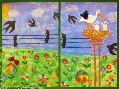 Εν αναμονή της γιορτής μας για την 25η Μαρτίου και μέσω κατασκευών, δραστηριοτήτων και πρόβας, εχθές ο καιρός μας χαμογέλασε και εξορμήσαμε... Crafts For Kids, Arts And Crafts, Paper Crafts, Spring Art, Techno, Birds, Drawing, Blog, Painting