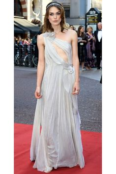 Keira wows in this silk tulle gown by Rodarte, romantically teamed with a Bulgari Vintage tiara and Sergio Rossi sandals.