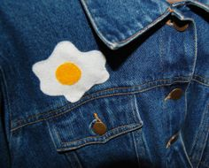 felt fried egg patch cute & kitsch by cryybaby on Etsy, £1.50