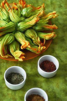 Crispy Spiced Fried Squash Blossoms