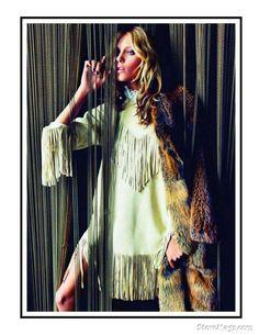 "Model: Anja Rubik Photographers: Inez & Vinoodh Stylist: Melanie Ward — Vogue Paris September 2011 ""Hippie Living"""