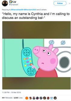 A new angry Peppa Pig meme is making its round around the internet. We've compilated the most funniest one, sprinkled with a few classic Peppa Pig memes. Peppa Pig Memes, Peppa Pig Songs, Peppa Pig Funny, Peppa Pig Wallpaper, Rebecca Rabbit, Scooby Doo, Funny Memes, Hilarious, Dankest Memes