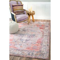 Safavieh Valencia Pink/ Multi Polyester Rug (8' x 10') | Overstock.com Shopping - The Best Deals on 7x9 - 10x14 Rugs