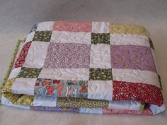 Baby Children's quilt.  30's fabric by TheRetiredQuilt on Etsy