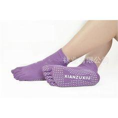 Yoga Socks Women Anti-skid Five fingers Massage Sport Socks Multiple Colors Cotton Warm Stocking Free Shipping