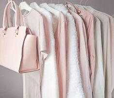 Capsule wardrobes will change the way you dress. This lady obviously loves her blushes mixed with neutrals! Pink Wardrobe, Capsule Wardrobe, Mode Chic, Mode Style, Girly Outfits, Cute Outfits, Mode Rose, Just Girly Things, Pink Princess
