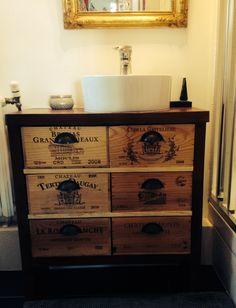 Meuble vasque - bathroom cabinet âme with winehouse cases