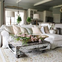 """One of the most frequently asked questions I get on IG is, """"How the heck do you maintain white furniture with four small children at home?"""" Answering this question on the blog tonight, plus a little behind the scenes of the not-so-pretty days at my house (), and then I'm giving you a three-years-later review of the white sofa and chairs we have in this space...click the link in my IG profile! I'd love to hear from you over on the blog to see if I can convince you to come to the dark, w..."""