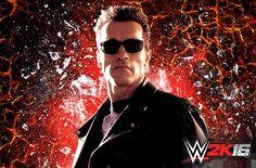 Arnold Schwarzenegger como Terminator en WWE 2K16 - http://games.tecnogaming.com/2015/07/arnold-schwarzenegger-como-terminator-en-wwe-2k16/