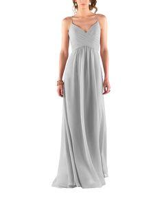 Description - Sorella Vita Style 8798 - Full length bridesmaid dress - Sweetheart neckline with delicate spaghetti straps - Criss-cross bodice - Chiffon