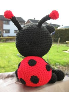 BugEyed Ladybird ... £23 plus shipping from KandJ Designs, contact me for details Pattern from Voodoo Maggie's Adorable Amigurumi Book  kandjdesigns@forgestone.co.uk